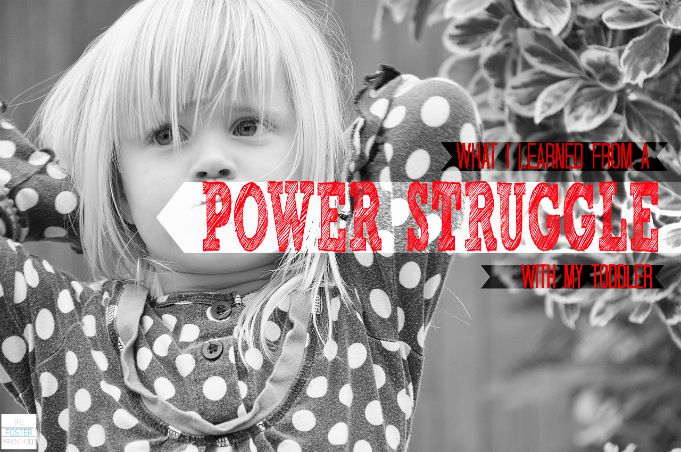 How do you handle a power struggle with your child?  Three questions to ask to check your heart in it.