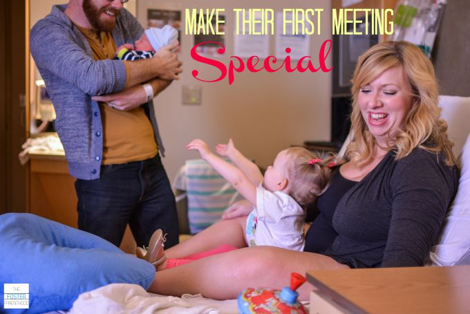 Preparing your child for a new baby - make the first meeting special