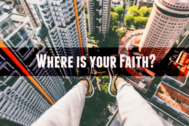 Where is your faith when the chaos of life overwhelms?  What does it look like to truly surrender?