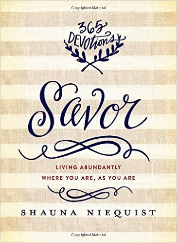 What I'm Reading Now - Savor, 365 Devotions